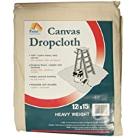 Paint Essentials 12-Feet x 15-Feet Canvas Drop Cloth HW1215