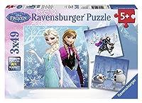 Ravensburger 09264 - Disney Frozen: Abenteuer im Winterland - 3 x 49 Teile...