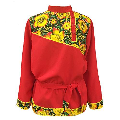 Russian shirt Khokhloma men kosovorotka Slavic traditional wear folk shirt dance character costume -