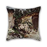 beautifulseason oil painting JÅ«lijs Feders - Chalk Hills cushion covers 16 x 16 inches / 40 by 40 cm gift or decor for sofa,club,christmas,deck chair,couples,bedding - twin sides