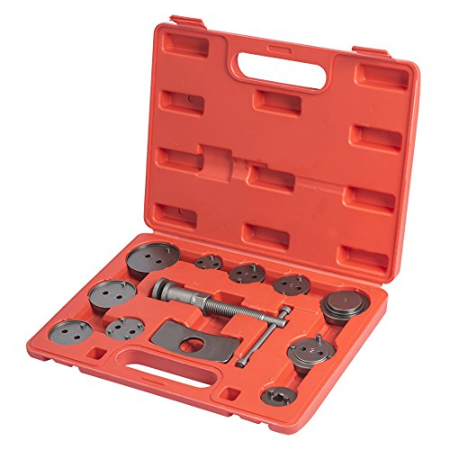 WORKPRO Disc Brake Caliper Compressor Tool Set and Wind Back Tool Kit for Brake Pad Replacement 12-Piece