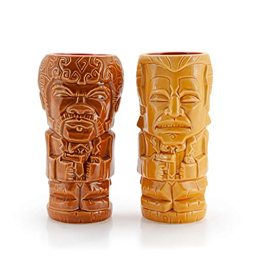 Geeki Tikis Pulp Fiction Vincent Vega & Jules Winnfield Tiki Mugs | Official Pulp Fiction Ceramic Tiki Style Cups