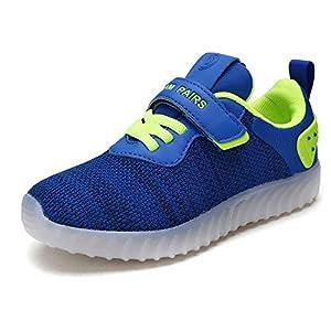 DREAM PAIRS Boys & Girls Toddler/Little Kid/Big Kid 170325-K LED Light Fashion Sneakers