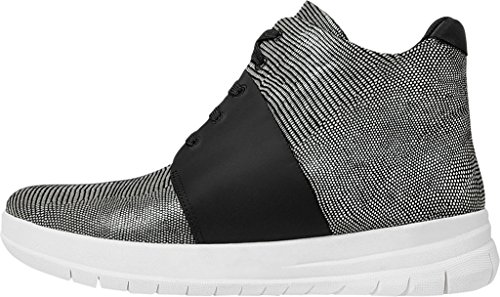 Sporty-Pop X Lizard Imprimer Fitflop Femmes Haut-Top Sneakers - Noir