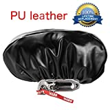 """PU Leather Winch Cover Waterproof, Dust-proof,UV & Mildew-Resistant Winch Protective Cover for Winches 8,500 to 17,500 lbs, 22.5'' W x 9.9"""" H x 6.3"""" D"""