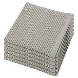 Now Designs Ripple Dishcloth, London Grey, Set of 6