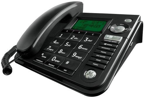 GE 29582FE1 Corded Speakerphone with Answering Machine (Black)