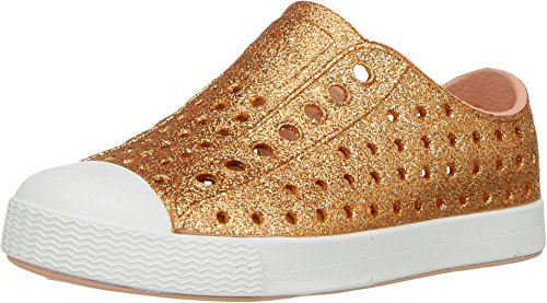 Native Kids Shoes Baby Girl's Jefferson Bling Glitter (Toddler/Little Kid) Rose Gold Bling 6 M US Toddler