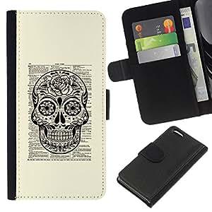 Planetar® Modelo colorido cuero carpeta tirón caso cubierta piel Holster Funda protección Para Apple iPhone 5C ( Libro Libro Libro rústica Tinta Muerte)