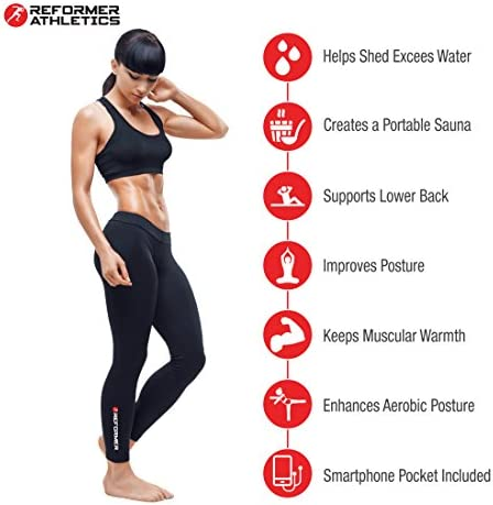 Waist Trimmer Belt for Women & Men, Waist Trainer, Ab Belt for Weight Loss, Slim Body Sweat Wrap for Low Back and Lumbar Support with Sauna Suit Effect, Abdominal Trainer with Smartphone Sleeve 6