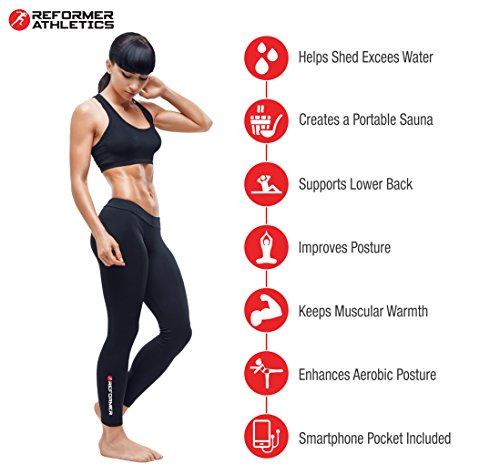 Reformer Athletics Waist Trimmer Ab Belt Trainer Faster Weight Loss. Includes Free Fully Adjustable Impact Resistant Smartphone Sleeve iPhone X, 8 iPhone 8 Plus