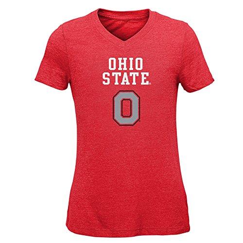 - NCAA Ohio State Buckeyes Youth Girls Goal Line Basic Tee, Red, Youth X-Large(16)