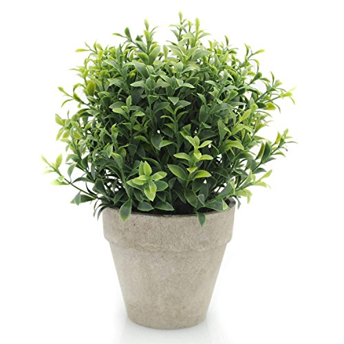 Velener Artificial Plants Mini Potted Grass Arrangements for Home Decor (Green, Seven-Layer)