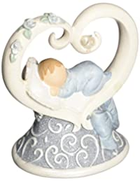 Gund Baby Legacy of Love Figurine, Blue, 3.875
