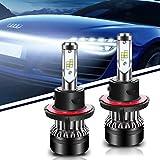 TURBOSII LED Headlight Bulb Conversion Kit 9008/H13 72W Led Fog Lights Replace HID Xenon Halogen Bulbs For Nissan Maxima Subaru WRX Tribeca Chevy Cruze ECO Silverado Polaris Dodge Charger Ralley