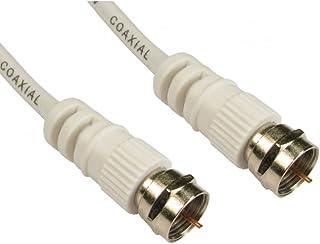 Bluecharge câble d'extension direct satellite plomb de type F à vis prise vierge Sky digital 2 m blanc