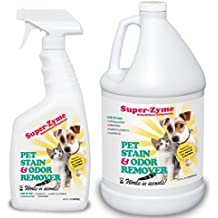 Super-Zyme Pet Stain and odor eliminator, dog and cat natural cleaner (160 Ounces)