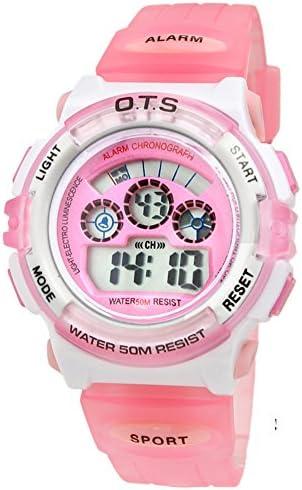 Boys女の子防水光ウォッチファッションスポーツデジタルwatch-r