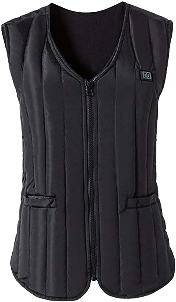 Men and Women Sleeveless Pocket Vest with Wool Hooded Winter Loose Vest