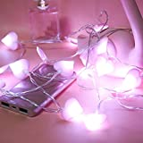 HighlifeS 10 Led Battery Powered Operated Wedding Christmas Halloween Birthday Heart Shape Lights For Bar Home Outdoor Decorations Party String Lights Kids Night Light (Purple)