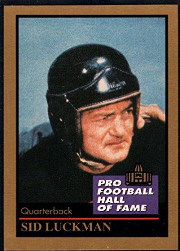 Amazon.com  Football NFL 1991 ENOR Pro Football HOF  89 Sid Luckman NM-MT  Bears  Collectibles   Fine Art bc491c429