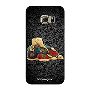 HomeSoGood Religious Ganesha Clay Made Statue Black 3D Mobile For Samsung S6 Edge ( Back Cover)