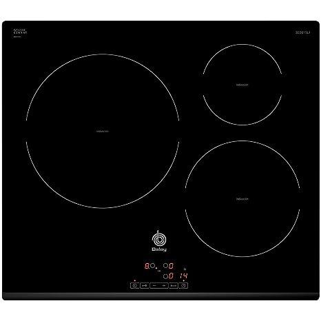Balay 3EB815LR Placa vitrocerámica de inducción, 1400 W, Vidrio y cerámica, Negro