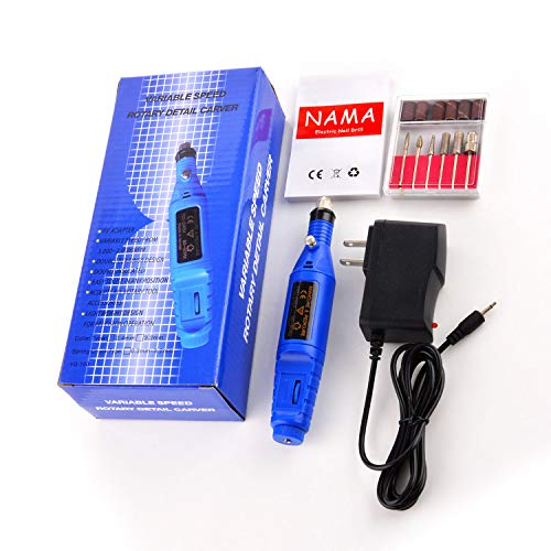 Nail File Electric Drill Machine,Kathy Professional Nail Art Kit for Acrylic Nails Manicure Pedicure Tool for Home,Salon,Blue