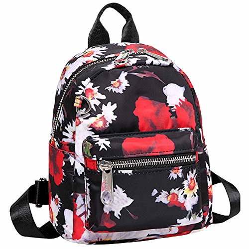 Small Backping Women Nylon backpacks Stlye Waterproof Cute Print Three For Handbag Backpck Shoulder Girls 2 HADM and AxIT1qwFI