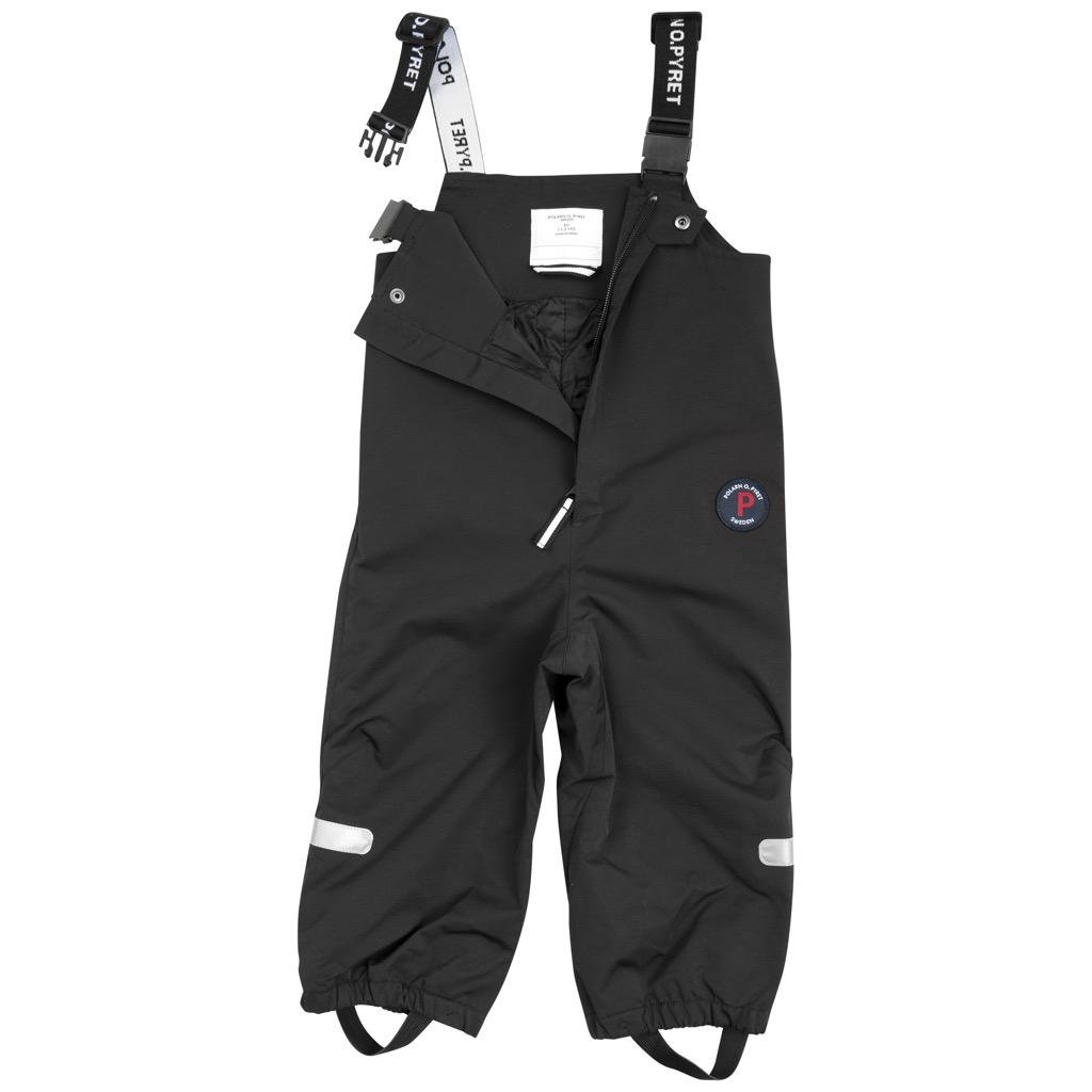 Polarn O. Pyret Waterproof BIB Shell Pants (6MOS-2YRS) - 9-12 Months/Meteorite by Polarn O. Pyret