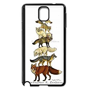 Fox Cute Pattern Hard Shell Phone Case Cover For Samsung Galaxy Note 4 Case 3