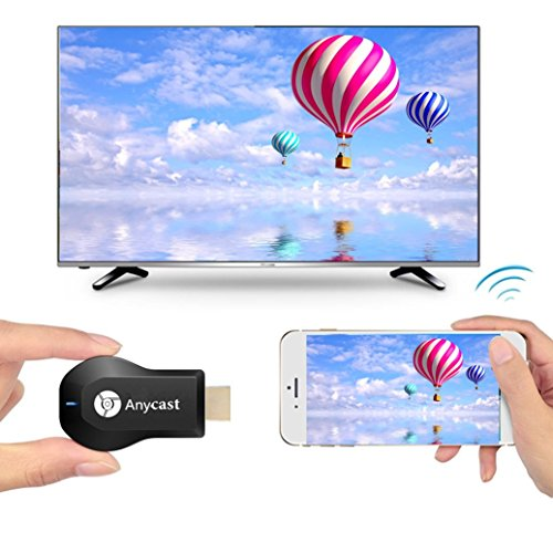 Anycast WiFi DLNA Airplay Miracast Dongle Online Streaming Device for TV 1080p Receiver HDTV Wireless Wi-Fi TV Monitor & Projector Mirascreen HDMI Adapter Media Streamer for Smartphone, Tablet, and PC by NeeGo