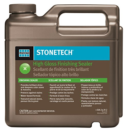 Surface Tile Sealer - StoneTech High Gloss Finishing Sealer for Natural Stone, Tile, Grout, 1-Gallon (3.785L)