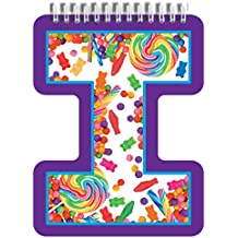 "iscream Letter I Shaped Spiral-Bound Lined Page 6.5"" Initial Notebook"
