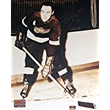Autographed Red Kelly 8x10 Photo - Detroit Red Wings