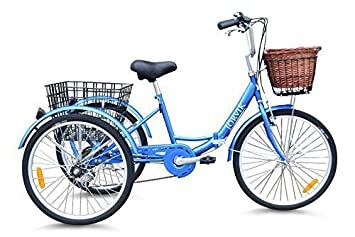Jorvik 20″ Vintage Dutch Estilo Plegable Marco Adulto O para niños Triciclo - Azul Dutch