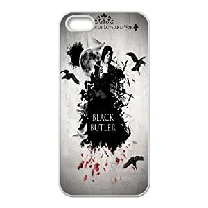 iPhone 5,5S Cell Phone Case White Black Butler HG7643648