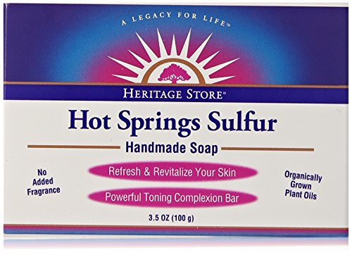 Heritage Store Bath Soap, Hot Springs Sulfur, 3.5 - Spring Stores
