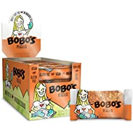 Bobo's Oat Bars (Peach, 12 Pack of 3 oz Bars) Gluten Free Whole Grain Rolled Oat Bars - Great Tasting Vegan On-The-Go Snack, Made in the USA