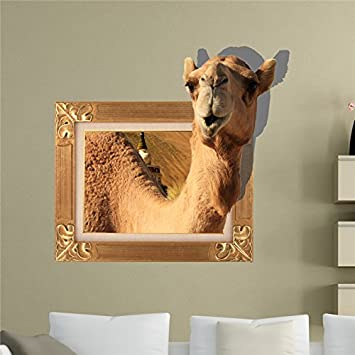 Camel 3d wall decals animal pag sticker removable wall stickers home chameau decor gift