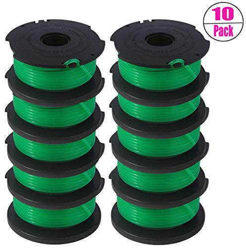 SF-080 Replacement Spool for Black and Decker GH3000 LST540 LST540B GH3000R SF-080-BKP Auto Feed Spool Single Line Trimmer 20ft 0.080 inch (10 Pack) by TOPEMAI