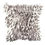 """Clearance!Polyester Square Leaves Feather Pillow Cover Cases Cushion Home Decor 18"""" x 18"""" (Gray)"""