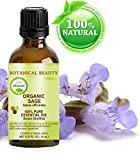 Facial Nerve Infection - SAGE ORGANIC Essential Oil. 100% Pure Therapeutic Grade, Premium Quality, Undiluted. 0.33 Fl.oz.- 10 ml. by Botanical Beauty.