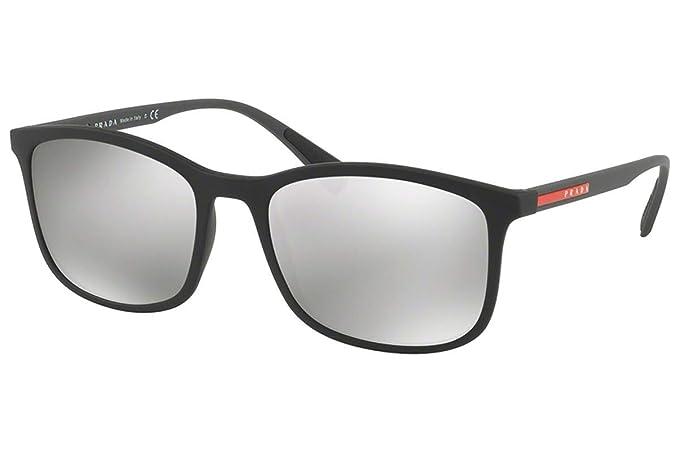 Prada PS01TS gafas de sol w/gris claro espejo de plata 56mm ...