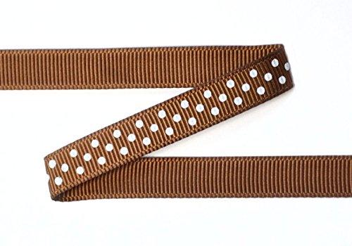 Ribbon Bazaar Grosgrain Swiss Dots 3/8 inch Turftan 25 Yards Ribbon