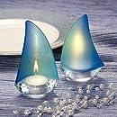 Sailboat Design Candle Holder Favors (Pack of 2)