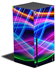 MIGHTY SKINS Skin Compatible with Xbox Series X - Light Waves   Protective, Durable, and Unique Vinyl Decal wrap Cover   Easy to Apply and Change Styles   Made in The USA (MIXBSERX-Light Waves)