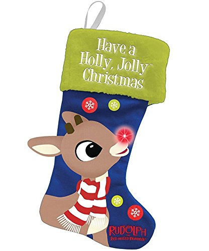 Vandor Rudolph LED Stocking, Large -