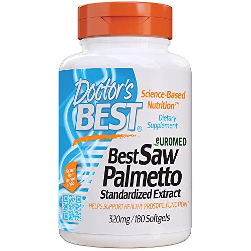 Doctor's Best Saw Palmetto 320 Mg Softgels, 180 Count