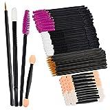Jaciya 200 Pack Dual Sided EyeShadow Sponge Disposable Mascara Brushes Lip Brushes Eyeliner Brushes Makeup Brushes Applicator Sets